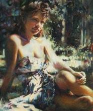 Girl in Sundress, Bareshoulders