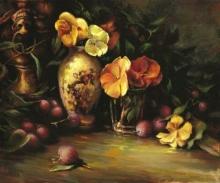 Yellow Pansies & Vase