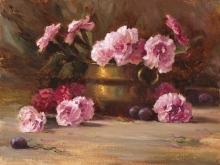 Copper Pot, Pink Carnations