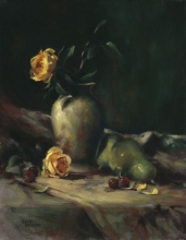 Yellow Rose and Pear
